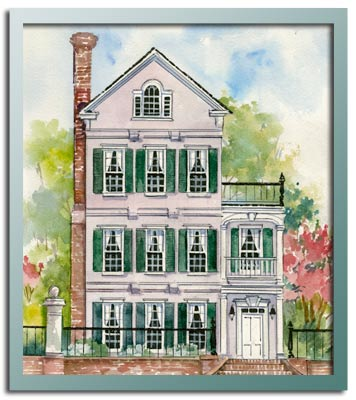 Authentic historical designs llc house plan for Charleston single house plans